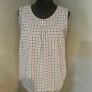 Merona Sleeveless Checkered Tunic